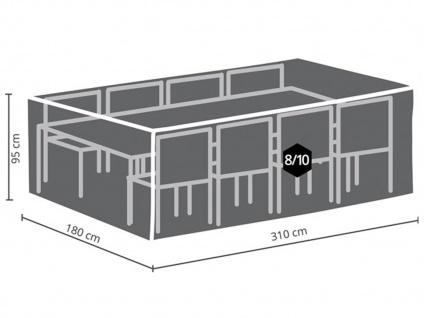 Schutzhüllen Set XXL: Abdeckung für Gartenmöbel 310x180cm + 2x Polsterhülle - Vorschau 3
