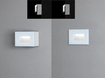 LED Außenwandleuchte Auf-& Einbauleuchte aus Alu, 12x8cm Terrassenlampen IP54 - Vorschau 5