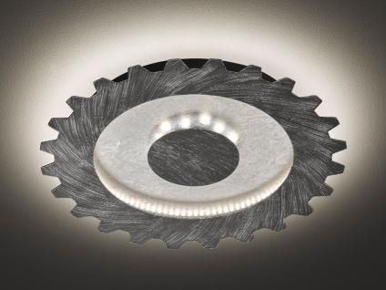 LED Deckenlampe Industrie Look Silber & Gold Ø40cm Vintage Lampe fürs Wohnzimmer - Vorschau 1