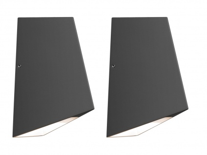 2er-Set Up/Down Außenwandleuchte IMOLA, anthrazit, 8W HP-LEDs IP54 - Vorschau 2
