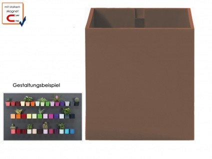 Wandaufbewahrung Wanddeko Kunststofftopf mit Magnet Ø 9 cm Taube, KalaMitica