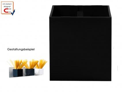 Wandaufbewahrung Wanddeko Kunststofftopf Würfel mit Magnet Ø 9 cm, KalaMitica
