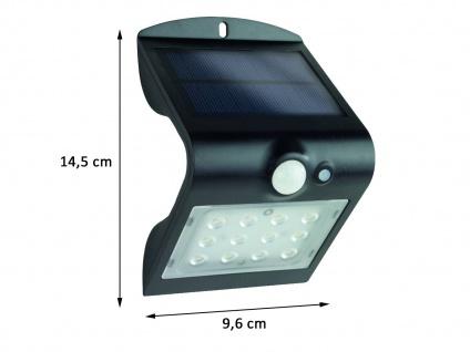 LED Solar Wandleuchte Außenleuchte MINI Fassadenbeleuchtung Schwarz 14, 5x9, 6cm