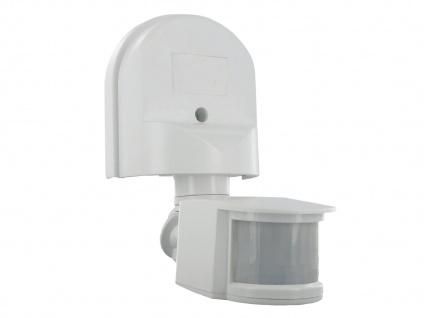 Bewegungsmelder 12m/180° in weiß mit Schwenkarm, max. 1000W, IP44 - Vorschau 1