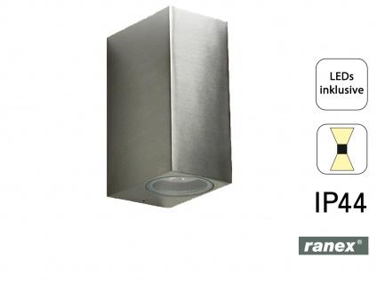 LED Wandleuchte Kubusform, up/downlight, 160Lm, warm, IP44