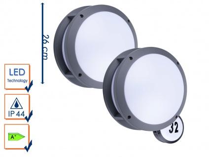 2er-Set LED Außenwandleuchten Hausnummernleuchten Wandleuchten 5Watt, 350 Lumen