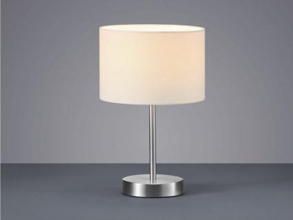 TRIO Design Nachttischleuchte Lampenschirm Stoff rund weiß Ø20cm E14 - Flurlampe - Vorschau 5