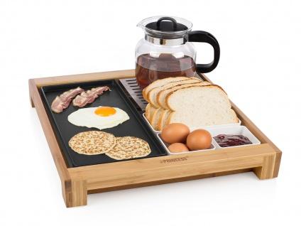 Serviertablett mit Teppanyaki Grillplatte Bratplatte Warmhalteplatte Multi Tray