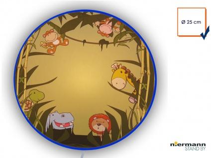 Kinderlampe Wandlampe Ø25cm WILDE TIERE Wandleuchte Kinderzimmer Leuchte rund