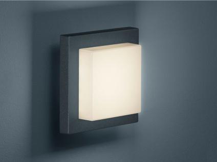 DESIGN LED Außenwandleuchte in Anthrazit, Terrassenbeleuchtung für Wand & Decke