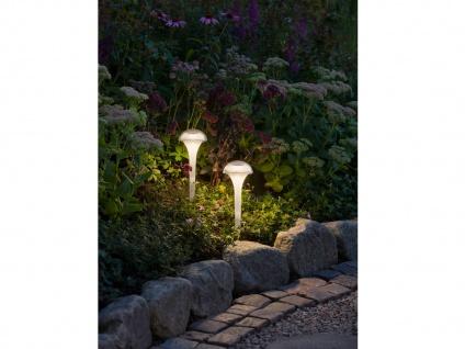 LED Solarleuchten 2er Set Farbwechsel & Erdspieß Höhe 35cm, IP44 Gartenleuchte - Vorschau 5