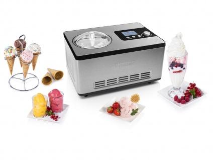 Joghurt Eis & Sorbet selber machen - 2L Eismaschine mit Kühlung & Kompressor
