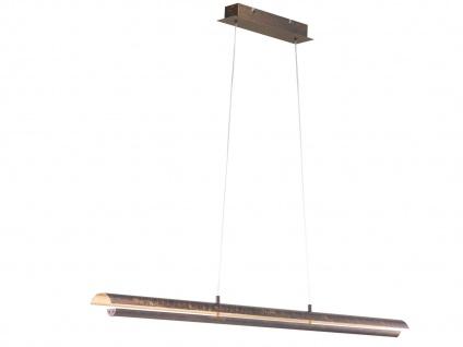 Design LED Pendelleuchte Antik Braun/Messing gefärbt höhenverstellbar - Esstisch