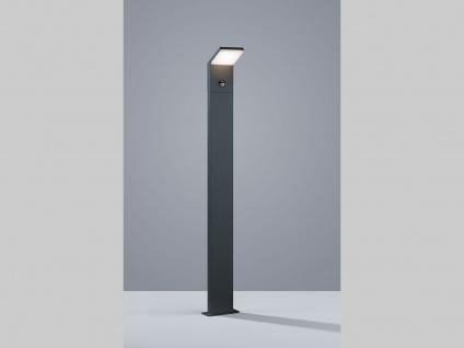 LED Pollerleuchte inkl. Bewegungsmelder 100cm hohe Sockelleuchte in anthrazit