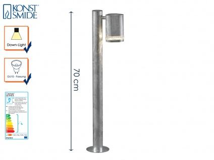 Wegeleuchte Standleuchte MODENA galv. Stahl, GU10, Höhe 70 cm, IP44