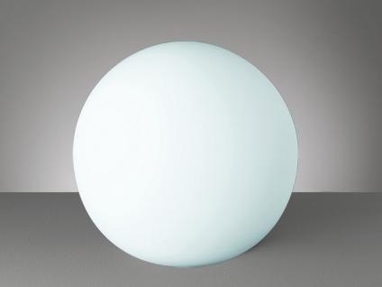 Kugel LED Tischleuchte Bodenlampe Deko Glaskugel innen Weiß Ø20cm Lichtobjekte
