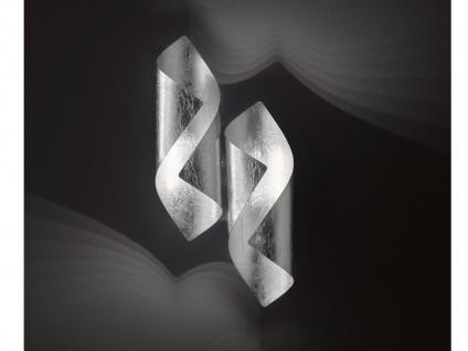Design LED Wandleuchte in Blattsilber-Optik 2-flammig - moderne Wohnzimmerlampen