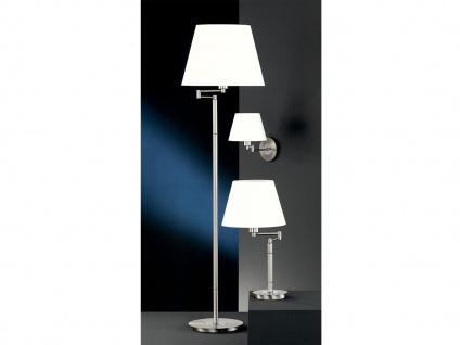 Wandleuchte Bettlampe Silber mit Schalter & Lampenschirm Stoff Weiß verstellbar - Vorschau 4