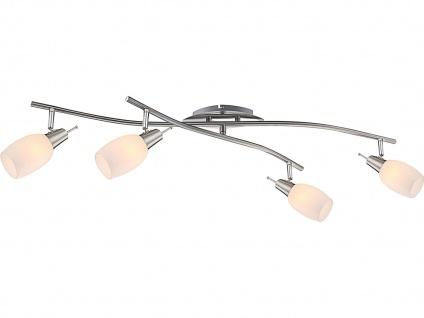 Globo Design Deckenstrahler schwenkbar, Glas weiß, Deckenleuchte Strahler - Vorschau 2