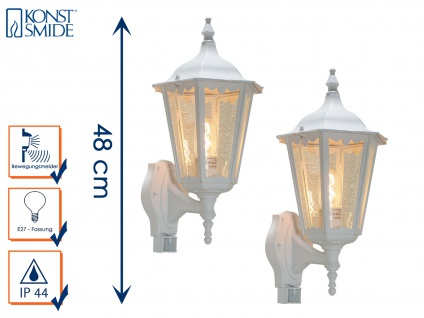 2er-Set Wandleuchten mit Bewegungsmelder Wandlampen Gartenleuchten