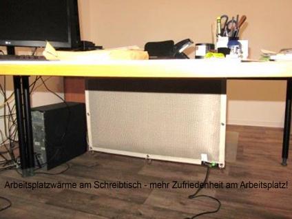 Infrarot Schreibtischheizung Untertischheizung Tischheizung IP65 + Fußschalter