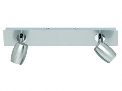 Deckenstrahler Nickel matt 2 Spots schwenkbar GU10 Fassung - Wohnraumleuchten