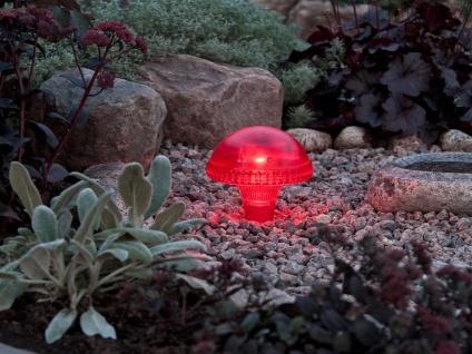 LED Solarleuchte / Gartenleuchte ASSISI, IP44, rot, Höhe 27, 5 cm