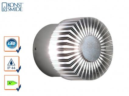 Runde Wandleuchte MONZA für effektvolle Beleuchtung, 3W, massives Alu