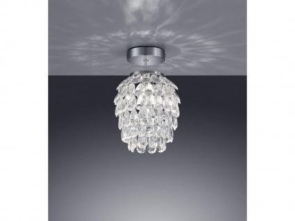 Designer LED Deckenleuchte 1 flammig Lampenschirm Ø20cm mit Acryl Kristallbehang