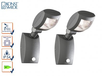 2er-Set Außenwandleuchten LATINA Bewegungsmelder IP54, 3W LED, 350Lm