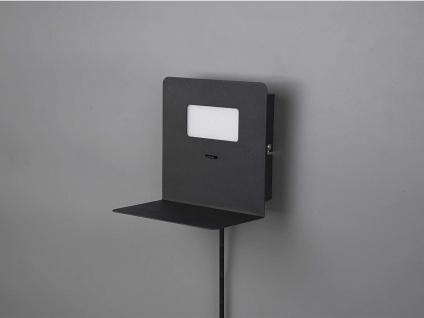 LED Wandleuchte Schwarz USB Anschluss & Ablage Nachttisch Wandlampen fürs Bett - Vorschau 4