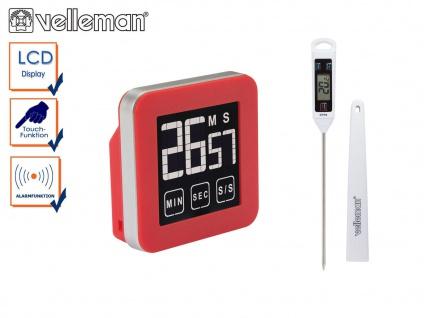 Küchen Set: Digitales Küchenthermometer / Bratenthermometer + Timer mit Alarm