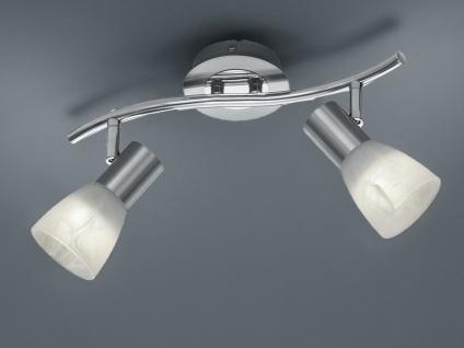 Schwenkbarer 2 flammiger LED Deckenstrahler für Innen Nickel matt für Wohnzimmer