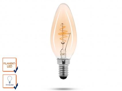 LED Leuchtmittel 3 Watt, 150 Lumen, 2000 Kelvin, E14-Sockel, Filament LED