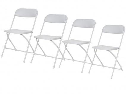 Klappstuhl 4er Set weiß, faltbarer Stuhl, Campingstuhl klappbar, Terrassenmöbel