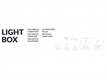Light-Box / Leuchtkasten A4 mit 85 Buchstaben + Netzadapter & Zeitschaltuhr - Vorschau 5