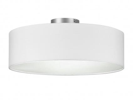 Deckenleuchte mit Stoff Lampenschirm Weiß 40cm - Textil Deckenlampe Stoffschirm
