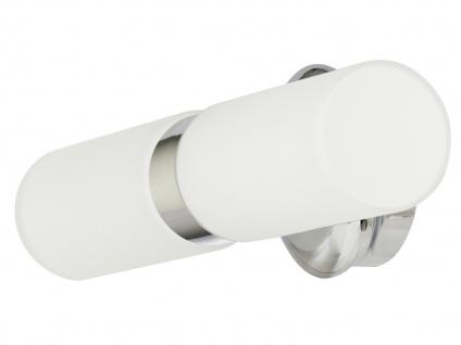 Spiegelleuchte Badezimmerlampe Schutzklasse IP44 satiniertes Glas E14 Sockel