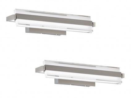 Verstellbares LED Wandleuchten 2er Set 35cm mit Schalter für Dimmen Farbwechsel