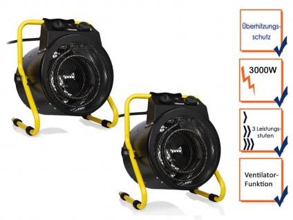 Mobile 3000W Baustellenheizungen Elektroheizgebläse mit Ventilator & Thermostat