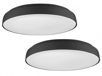 Runde LED Deckenlampen Schirm schwarz 2 Stk. fürs Schlafzimmer Wohnzimmerlampen