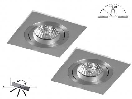 2er-Set Aluminium Einbaustrahler Einbauspot dimmbar schwarnkbar 230LM