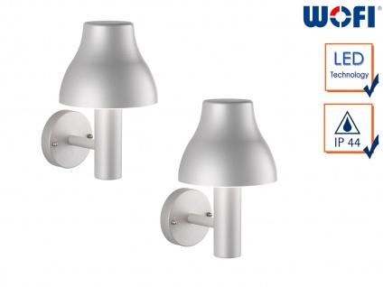2er Set LED Außenwandleuchte Aluminium 7W Wandleuchte außen Fassadenbeleuchtung