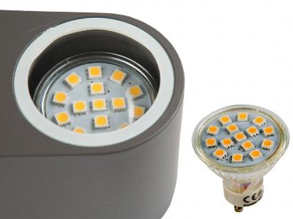 2x LED Außenwandleuchte Bastia Aluminium Anthrazit Down Light Wandleuchte Außen - Vorschau 4