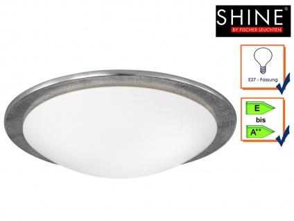 Deckenleuchte SHINE-ALU 50cm Nickel antik Glas opalweiß Deckenlampe Design Lampe