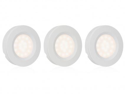 Runde LED Spots / Unterbauleuchte im 3er Set mit Bewegungssensor & Dimmer -Küche