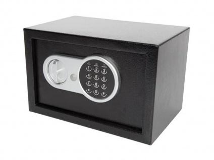 Elektronischer Safe mit Zahlencode, LED & Notschlüssel, Möbeltresor Geldtresor - Vorschau 2