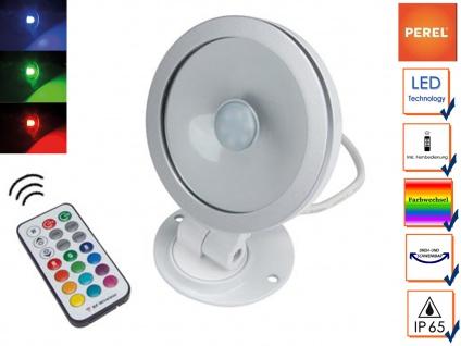 10W RGB LED Flutlichtstrahler mit Fernbedienung für innen u. außen, Partylight