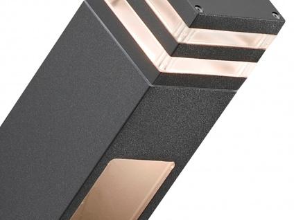 2er-Set Wandleuchten MASSA anthrazit, 8 Watt HP-LED, 800 Lumen, IP54 - Vorschau 3