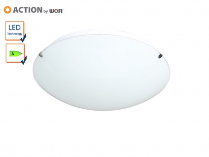 LED Deckenleuchte Deckenlampe 30cm, Glas weiß, Action by Wofi